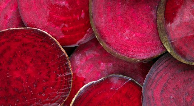 rode bieten schijfjes